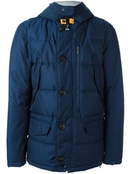 Parajumpers Buttoned Hooded Jacket Blue