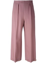 Paul Smith Button Cuff Trousers Pink Purple