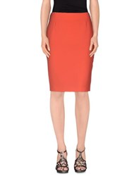 Marella Skirts Knee Length Skirts Women Coral