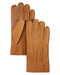 Uggg Sheepskin 3 Point Tech Gloves Chestnut