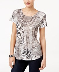 Styleandco. Style Co. Short Sleeve Printed Top Only At Macy's Signal Different