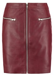 Y.A.S Yas Yasnaima Leather Skirt Andorra Brown