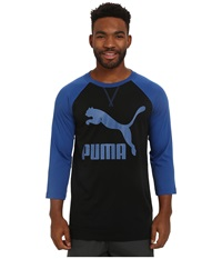 Puma Extra Long Raglan Limoges Men's Long Sleeve Pullover Blue