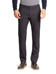 Sand Stretch Wool Trousers Dark Blue