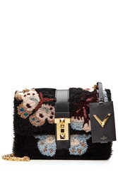 Valentino B Rockstud Japanese Camubutterfly Shoulder Bag Multicolor