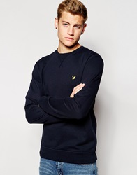 Lyle And Scott Vintage Sweatshirt With Crew Neck Navy