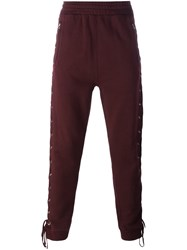 Faith Connexion Lace Up Side Track Pants Pink And Purple
