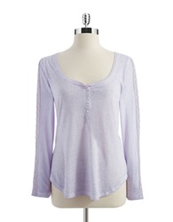 Jessica Simpson Long Sleeved Tee Orchid