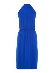Therapy Harriet High Neck Midi Dress Cobalt