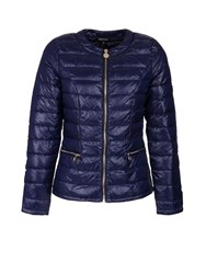 Morgan Feathers Filling Down Jacket Blue