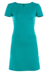 Courreges Wool Dress Turquoise