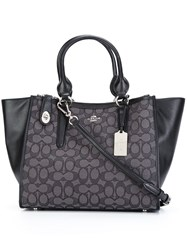 Coach Contrast Panel Tote Bag Black