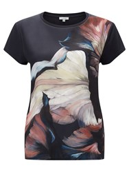Jigsaw Magnified Floral T Shirt Ink