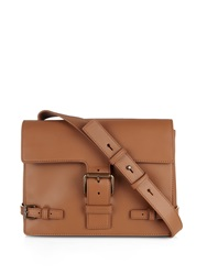 Tomas Maier Buckle Leather Cross Body Bag