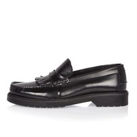 River Island Mens Black Heavy Sole Loafers