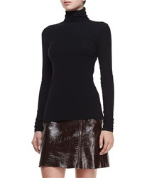 Theory Eliezer Turtleneck Long Sleeve Top Black