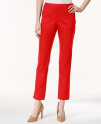 Charter Club Tummy Control Side Zip Ankle Pants Only At Macy's Red Barn