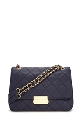Forever 21 Quilted Faux Leather Crossbody Navy