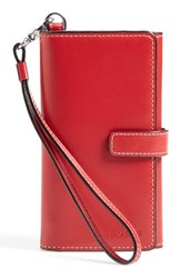 Women's Lodis 'Lily' Leather Phone Wallet Red