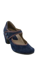 Earthiesr Women's Earthies 'Lucca' Mary Jane Pump Navy Suede
