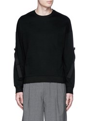 Wooyoungmi Tape Trim Sleeve Sweatshirt Black