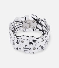 Christopher Kane Hand Laser Cut Bracelet Black