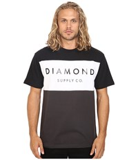 Diamond Supply Co. Yacht Color Block Short Sleeve Tee Black White Charcoal Men's T Shirt