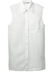 Acne Studios Perforated Sleeveless Shirt Nude And Neutrals