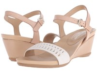 Naturalizer Swiftly Ginger Snap Leather Ivory Metallic Women's Sandals White