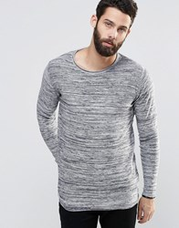 Only And Sons Spacedye Knitted Jumper Light Grey Marl