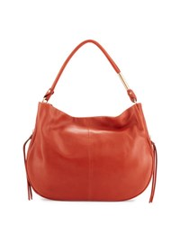 Foley Corinna Kate Leather Hobo Bag Rust
