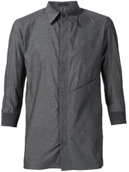 Devoa Three Quarter Sleeve Shirt Grey