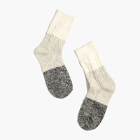 Madewell Marled Colorblock Trouser Socks Antique Cream