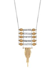 Lucky Brand Ladder Burst Pendant Necklace Two Tone