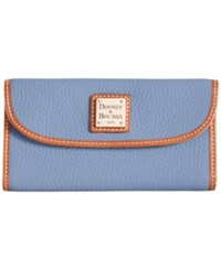 Dooney And Bourke Pebble Continental Clutch Dusty Blue