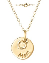 Lord And Taylor 14 Kt. Yellow Gold Layered Charm Necklace
