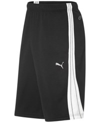 Puma Men's Shorts Form Stripe 10 Shorts Black White