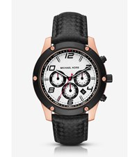 Caine Rose Gold Tone And Silicone Watch