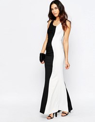 Jessica Wright Deelia Monocrome Maxi Dress Black White