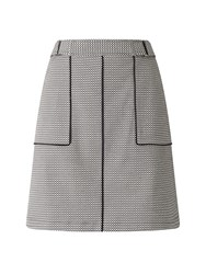 Phase Eight Lillie Geo Piped Skirt Black