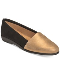 Aerosoles Trend Setter Flats Women's Shoes Bronze Combo