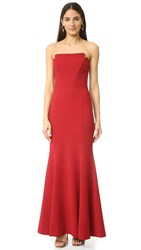 Jill Stuart Strapless Gown Redwood