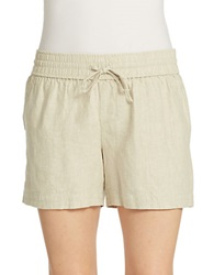 Lord And Taylor Linen Drawstring Shorts Dark Natural