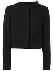 Red Valentino Bow Detail Cropped Jacket Black