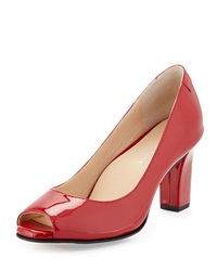 Taryn Rose Fierce Leather High Heel Pump Red
