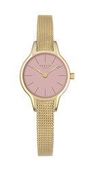Radley Pink Dial With Gold Plated Mesh Bracelet W