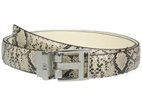 Ivanka Trump 25Mm Reversible Python To Smooth Belt Cream Women's Belts Beige