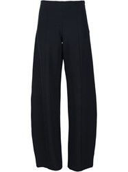 Narciso Rodriguez Wide Leg Front Seam Trousers Black