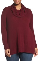 Sejour Plus Size Women's Wool And Cashmere Cowl Neck Sweater