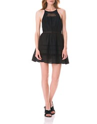 Sam Edelman Cut Out Fit And Flare Dress Black